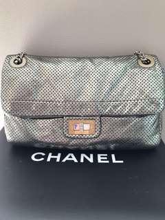 Vintage Chanel Silver Color Classic Flap Bag