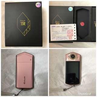 卡西歐 群光公司貨  TR80 粉嫩新色 《9.9成新》!!極新品!!
