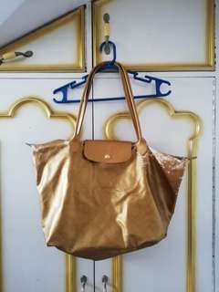 Repriced! Original Gold Coated Longchamp Canvass Bag