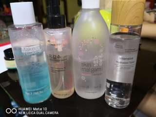 Toners and make up removers