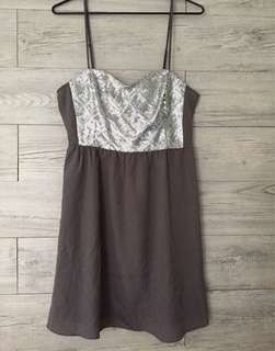*Repriced! H&M Grey strappy dress with silver sequins