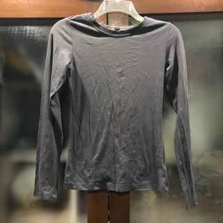 Gray long sleeves top