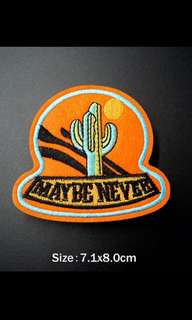 #255 catcus maybe never tumblr iron on patch | po
