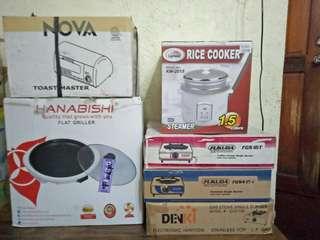 Kitchen Appliances previous price 5,500.00 now 5,000.00 only (Take All)