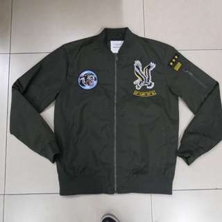 Next Mens Bomber Jacket with Patch