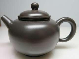 🚚 [老茗器]紫砂壺~黑鐵砂 圓珠壺 有落款 200CC