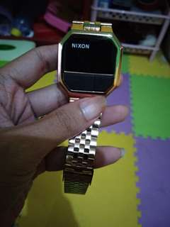 jam tangan nixon digital gold kw