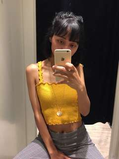 Stradivarius tube crop mustards