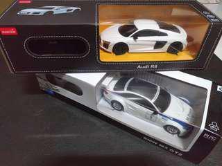 Rastar 遙控模型車,Audi R8,BMW M3GT2。
