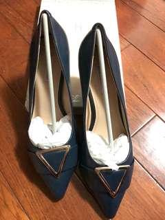 🚚 Helene spark AS 副牌 深藍色高跟鞋 跟約5~6公分