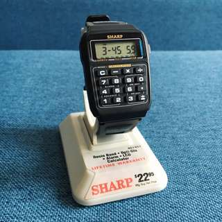 SHARP calculator watch Deadstock