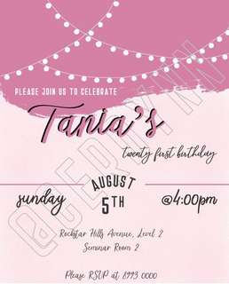 Invitation Card Customisation - 16