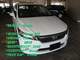 *BRAND*.  Honda  *MODEL*.  Stream RSZ *ENGINE*. 1.8A *YEAR*.      2008 *REGISTRATION*. 2008 *CONDITION*.  Good *PRICE RM*.  4.999k