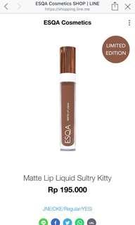 ESQA Lip Matte Liquid 'Sultry Kitty' New Original 100%