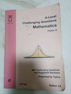 A Level H2 Math Challenging Questions