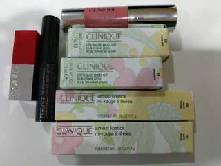 Clinique skincare and makeup products