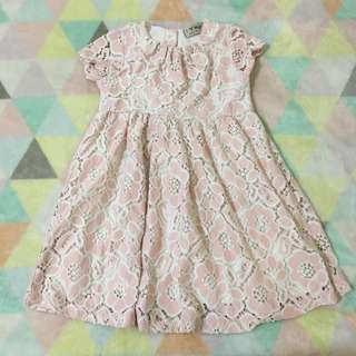 NEXT Pink Lace Dress