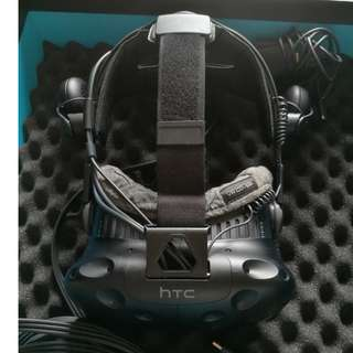 HTC Vive with Deluxe Audio Strap & VRCover