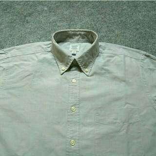 UNIQLO Grey Oxford Shirt Long Sleeve Size M