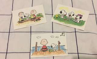 Snoopy peanuts post card