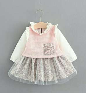 Baby Girl Dress Long Sleeves (6m-4y)