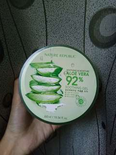 100% ORI Nature Republic 92% Aloevera Shooting Gel