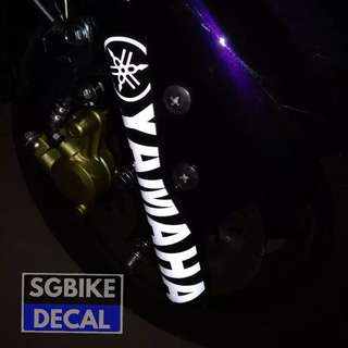 2pc Yamaha Fork Decal