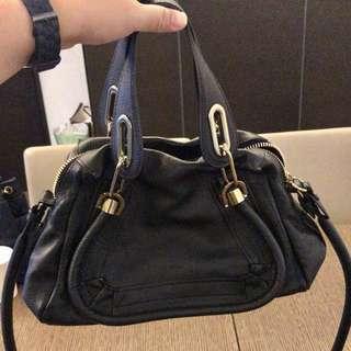 Chloe 黑色皮手袋