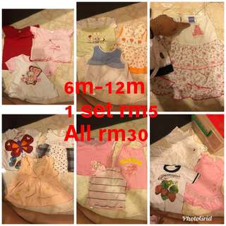 Girl dress singlet combo bundle 6m