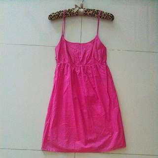 Pink Cotton Babydoll Dress