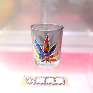 「大麻葉圖案 渲染 shot杯 一口杯 @公雞漢堡」