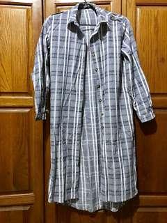 🚚 格紋 長襯衫 遮陽 洋裝
