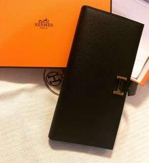 #全新Hermes經典款銀包黑牛皮金扣 💰德國Hermes專門店購入,長期賣斷,保証真貨!