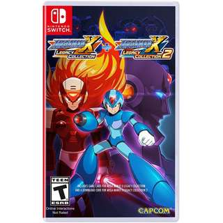 [NEW NOT USED] SWITCH Mega Man X Legacy Collection 1 + 2 Nintendo Capcom Platform Games