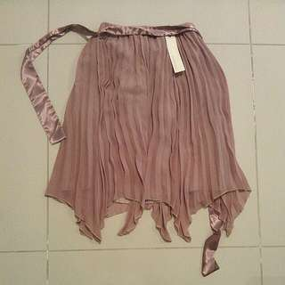 New Pink Asymmetric Skirt