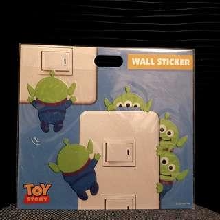 Toy Story Aliens Wall Sticker 三眼仔燈掣/牆貼