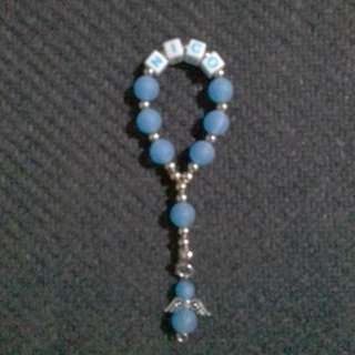 Angel Mini Rosary with Name Souvenirs and Giveaways wedding baptismal christening bday