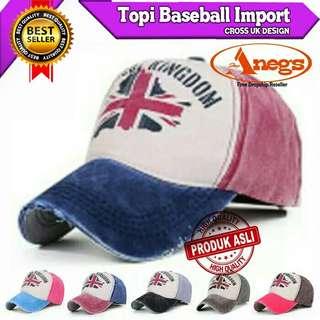 TOPI BASEBALL IMPORT CROSS UK DESIGN