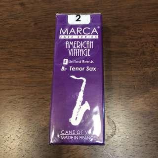 Marca American Vintage Tenor Saxophone Reed