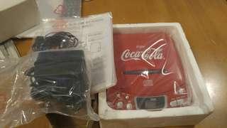 全新可口可樂CD機未開拆連火牛耳機