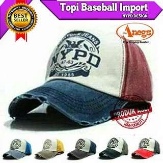 TOPI BASEBALL IMPORT NYPD DESIGN