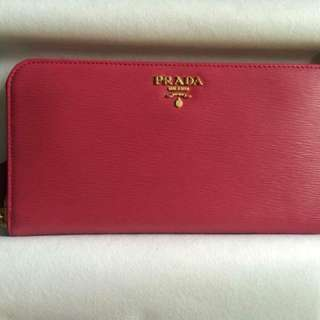 Prada Zip Saffiano Leather