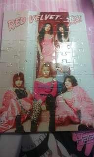 Red Velvet 拼圖可以換 wanna one OMG card