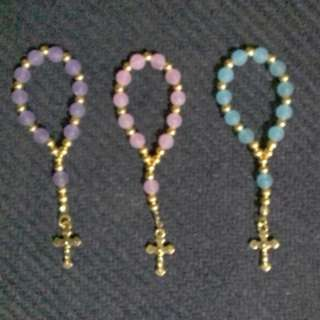 Gold Mini Rosary Souvenirs and Giveaways wedding baptismal birthday