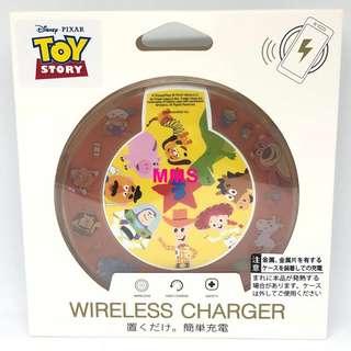 日本直送 迪士尼 反斗奇兵 巴斯光年 胡迪 翠絲 薯蛋頭 抱抱龍 iPhoneX samsung s8 無線充電座 無線充電器 無線充電板