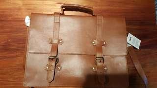 ASOS brown leather satchel