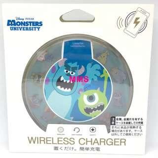 日本直送 迪士尼 怪獸公司 毛毛 大眼仔 米高 iPhoneX samsung s8 無線充電座 無線充電器 無線充電板