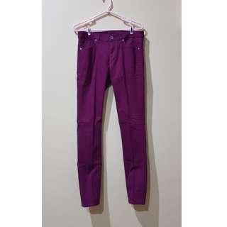 Uniqlo Maroon trousers (Celana chino panjang)
