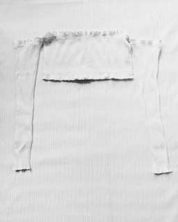 Zaful White Ribbed Off Shoulder Crop Top