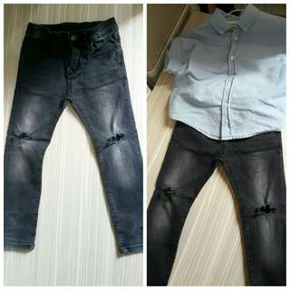 🚚 Set Zara Jeans and LS 5t